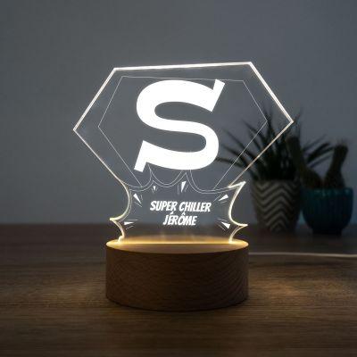 Cadeau Saint Valentin Homme - Lampe LED Superman