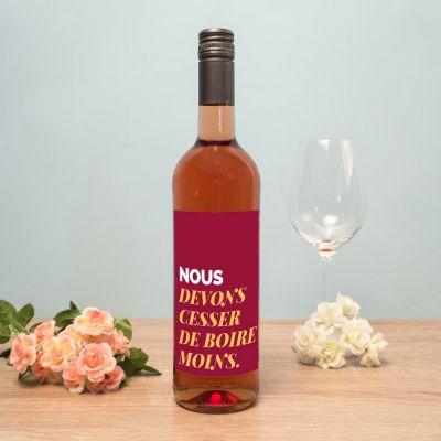Alcool - Vin personnalisable avec texte