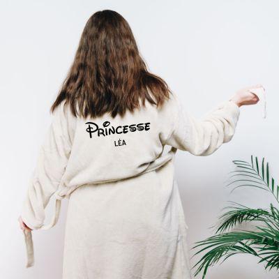 Cadeau anniversaire Femme - Peignoir princesse personnalisable