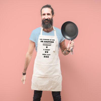 Cadeaux pour la Fête des Pères - Tablier de cuisine personnalisable pour roi du BBQ