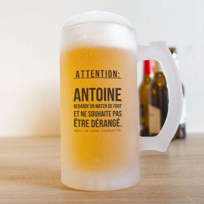 Tasses et Verres personnalisés - Chope à Bière pour les Fans de Football