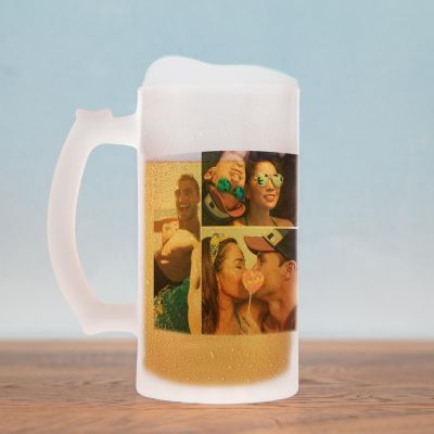 Tasses et Verres personnalisés - Chope de bière avec 5 Photos