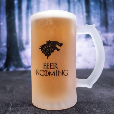Cadeau anniversaire Homme - Chope de bière personnalisable loup