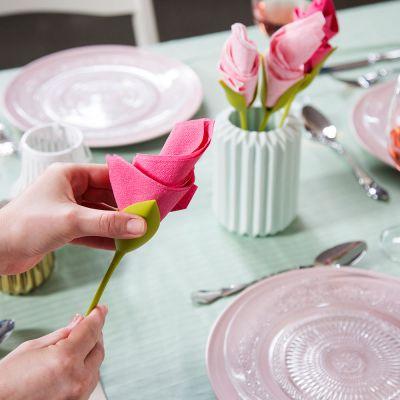 Cuisine & Barbecue - Porte-serviettes Fleurs (lot de 4)