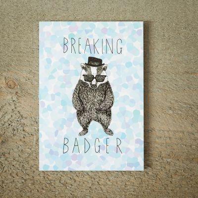 Cartes - Carte de vœux Breaking Badger