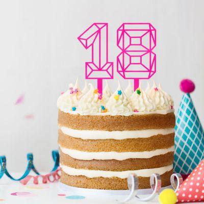 Cadeau 30 ans - Décoration pour Gâteaux en forme de Chiffre