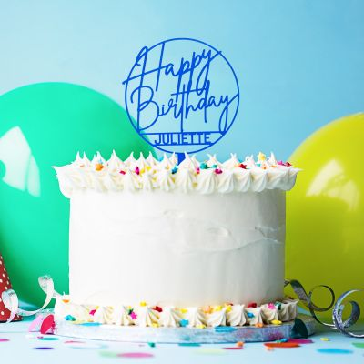 Cadeau 30 ans - Décoration Personnalisable pour Gâteau d'Anniversaire