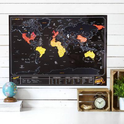 PROMOS - Carte du monde à gratter Ardoise