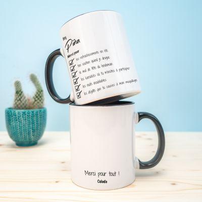 Tasses et Verres personnalisés - Tasse Personnalisable Merci