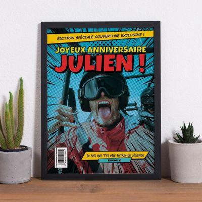 Poster personnalisé - Poster personnalisable avec texte et image façon BD