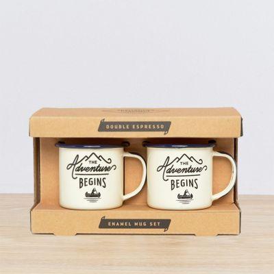 Verres & Mugs - Set de 2 Tasses Expresso Émaillées - Adventure
