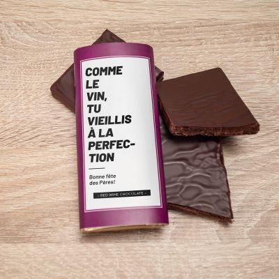Cadeau anniversaire papa - Chocolat au vin rouge personnalisable