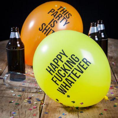 Cadeau anniversaire - Ballons drôles et méchants - Pack de 12