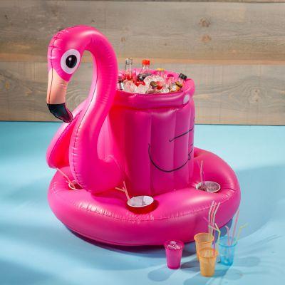 Accessoires de plage - Mini-Bar Gonflable Flamant