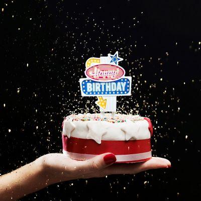 Idées cadeaux pour mettre dans le calendrier de l'avent - Lumière d'anniversaire Vegas