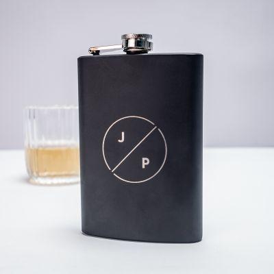 Cadeaux pour la Fête des Pères - Flasque personnalisable avec initiales