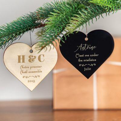 Maison et habitat - Décoration de Noël avec coeur