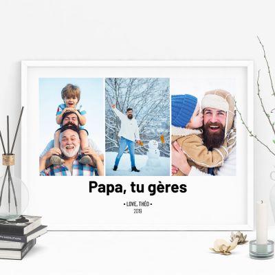 Nouveau - Poster avec 3 Photos et Texte