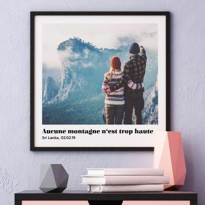 Cadeau Saint Valentin Femme - Poster avec Photo et Texte
