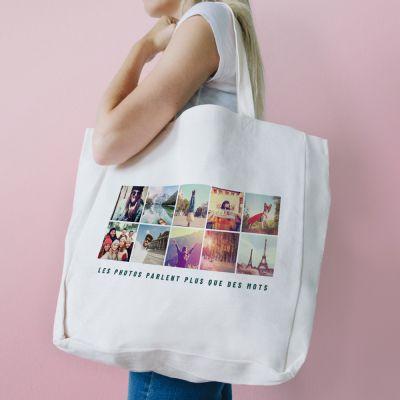 Vêtements & Accessoires - Sac Personnalisable avec 10 Photos & Texte