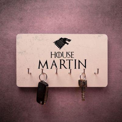 Cadeau prenom - Porte-clés Mural personnalisable avec armoiries