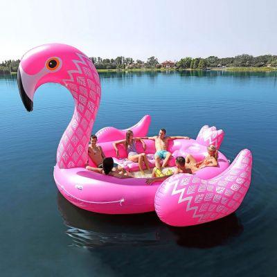 Outdoor - Bouée gonflable flamant-rose pour 6 personnes