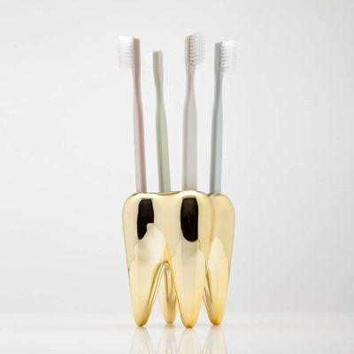 Nouveau - Porte-brosses à dents - Dent en or