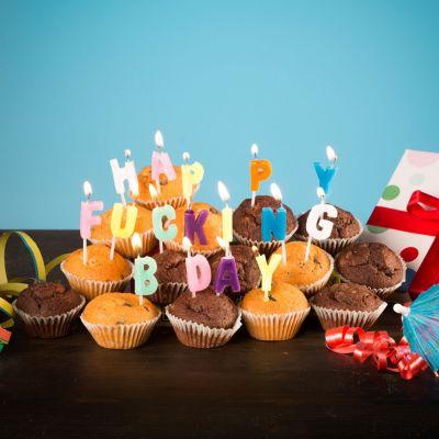 Cadeau 30 ans - Bougies Happy Fucking Birthday