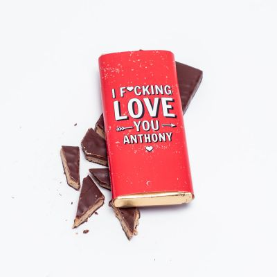 Chocolats exclusifs - Chocolat Personnalisable I F[...]ing Love You