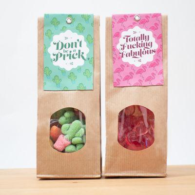 Idées cadeaux pour mettre dans le calendrier de l'avent - Bonbons aux fruits Cactus & Flamant Rose