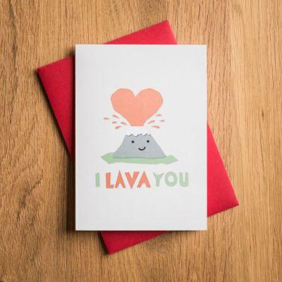 Cadeau Saint Valentin Femme - Carte de Saint Valentin – I Lava You