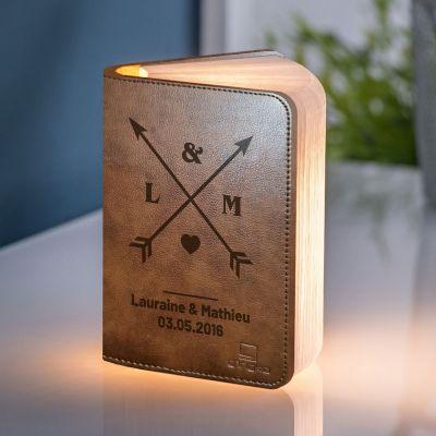 Cadeau romantique - Lampe Livre Personnalisable pour Couples