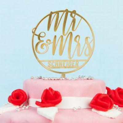 Décoration & Mobilier - Décoration Personnalisable pour Gâteau de Mariage