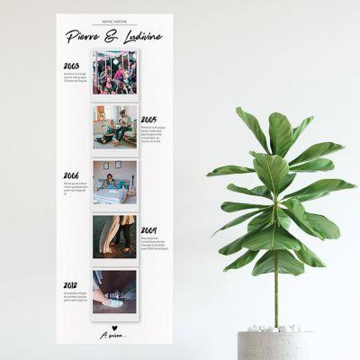 Posters - Poster photo personnalisable – Notre histoire