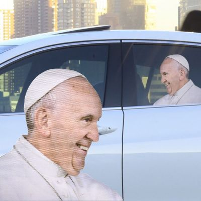Jeux & Farces - Autocollant de voiture Pape
