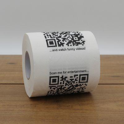 Salle de bains - Papier Toilette avec QR Codes