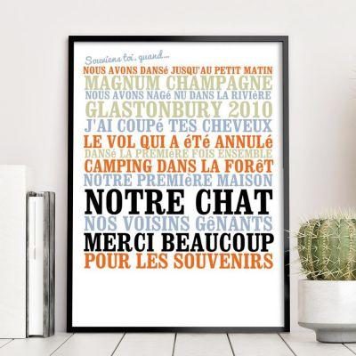 """Poster personnalisé - """"Souviens toi, quand ... """" - Affiche personnalisée"""