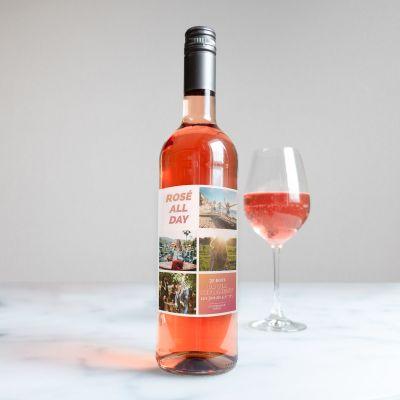 Alcool - Vin personnalisable avec 4 images et texte