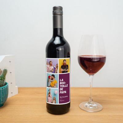 Accessoire Barbecue - Bouteille de Vin Personnalisable avec Photos et Texte