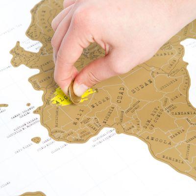 PROMOS - Carte du monde à gratter