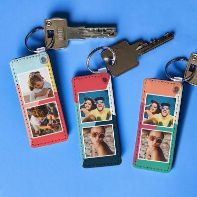 Cadeau crémaillère - Porte-clés Personnalisable avec 2 Photos