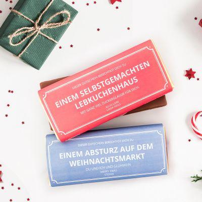 Cadeau maman - Personalisierbarer Gutschein mit Schokolade