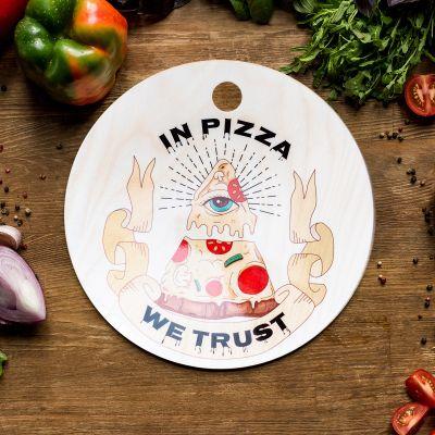 Cadeau d'Halloween - Planche à découper In Pizza We Trust