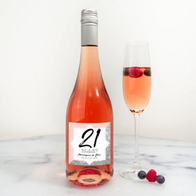 Cadeau d'adieu - Bouteille de vin Secco personnalisable avec texte