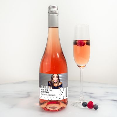 Alcool - Bouteille de Secco Personnalisable avec Texte et Image