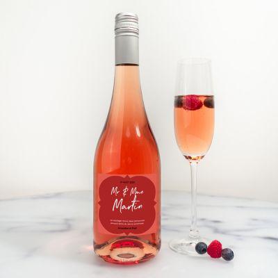 Alcool - Bouteille de Secco Personnalisable pour Mariage