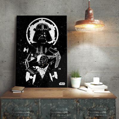 L'univers Star Wars - Poster métallique Star Wars – Tie Fighter Vador