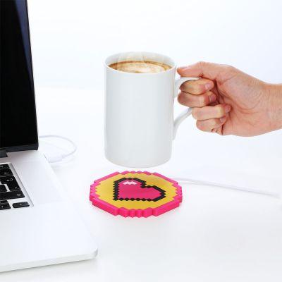 Fun au bureau - Chauffe-tasse USB coeur