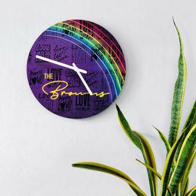 Objets Rétro & Vintage - Horloge Personnalisable avec Effet Néon