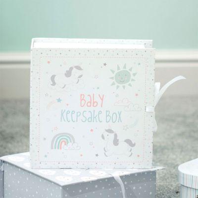Cadeau bébé - Boîte à Souvenirs Licorne pour Bébé